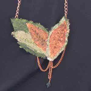 Silk Leaf Necklace